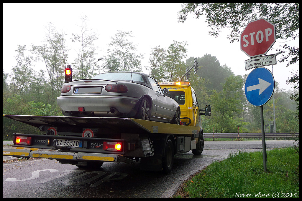 Car stuck in Italy